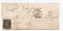 - Lettre - HTE GARONNE - TOULOUSE - Grille Noire S/TPND N°3b + Càd Type 15 - 1850 - TTB Et RR - 1849-1850 Ceres