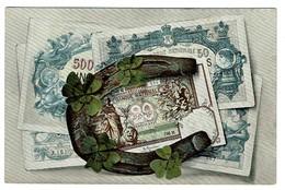 Représentation De Billets - Banque Nationale Bruxelles - Fer à Cheval / Trèfle à 4 - Series 965/2 - 2 Scans - Monnaies (représentations)