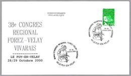 Congreso Regional Filatelia - ENCAJE - BOBBIN LACE. Le Puy En Velay 2000 - Textiles