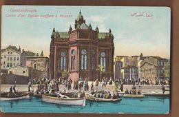 AC - OTTOMAN TURKEY CONSTANTINOPLE CORNE D'OR EGLISE BULGARE A PHANAR BULGARIAN CHURCH EDITEUR MAX FRUCHTERMANN POST CAR - Turchia