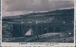 POSTAL LIBAN - LE PONT DJAJ ET VUE D AMCHIT - EDIT SCAVO - LIBANO - Libanon