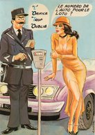 CPM Femme Avec Une Robe Fendue Et Un Policier - L'auto Loto - Pin-Ups