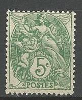 TYPE BLANC N° 111i Recto-verso NEUF* Trace De CHARNIERE / MH - 1900-29 Blanc