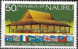 NAURU 1975 South Pacific Commission Conference, Nauru - 50c - Domaneab (meeting-house) MH - Nauru