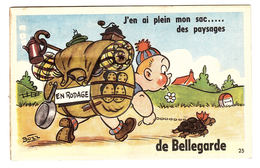 BELLEGARDE (30) - CARTE À SYSTÈME - J'ai Plein Mon Sac Des Paysages... - 10 Vues - Ed. CAP - Bellegarde