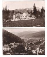 Romania - 2 Cards - Sinaia - Vedere Generala - Corpul De Garda - Old Cards With Stamps - Rumänien