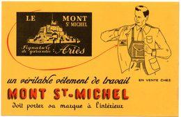 Buvard Mont St-Michel, Véritable Vêtement De Travail. - Textile & Clothing