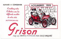 Buvard Grison, Produits D'entretien Pour Les Chaussures. Illustration : Voiture 4 Cylindres 1906 - Produits Ménagers