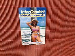 Sratch & Phone Intercomfort Girl On Beach Used Rare - Belgium