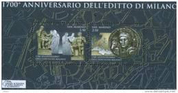 San Marino 2013 Foglietto Miniature Sheet 1700 Anniv. Editto Di Milano    ** MNH - San Marino