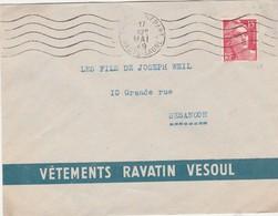 Enveloppe Commerciale 1949 / Vêtements RAVATIN / 70 Vesoul - Maps