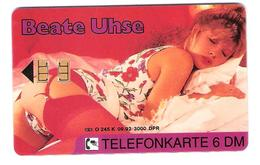 Germany - Beate Uhse - O 245k  09/92 - Erotic Girl - Erotik  Woman - Sexy - Private Chip Card - Deutschland