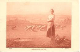POSTAL    GARDEUSE DE MOUTONS - Postales