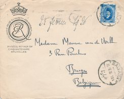 027/27 -  ARCHEOLOGIE BELGIQUE - Lettre Entete Fondation Reine Elisabeth TP EGYPTE Balyana 1926 Vers Van De Walle BRUGES - Archéologie