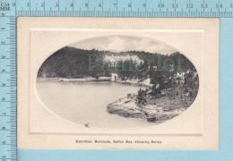 BERMUDA HAMILTON Saltus Bay  Showing Soncy - Vintage Embossed Postcard  Carte Postale - Bermudes