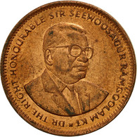 Monnaie, Mauritius, 5 Cents, 1990, TTB, Copper Plated Steel, KM:52 - Mauritius