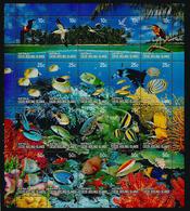 Faune Des Récifs De Corail De L'île COCOS , Feuillet Entier Neuf **   Année 2006 - Cocos (Keeling) Islands