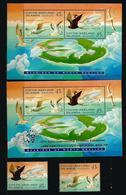 Oiseaux De Mer à L'île Cocos (Grande Frégate,etc), 2 Blocs-feuillets + Série Neufs **, Inclus B-F Surchargé Jakarta 95 - Cocos (Keeling) Islands