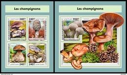 DJIBOUTI 2017 - Mushrooms - YT 1732-5 + BF241; CV=40 € - Pilze