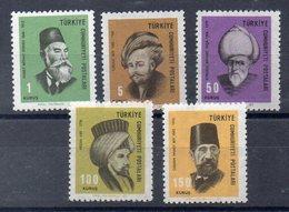 TURQUIE  Timbres Neufs ** De 1967 ( Ref 489C ) Personnalités - Unused Stamps