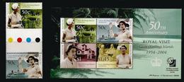 Visite Royale Queen Elisabeth II à L'île COCOS,année 2004 , Timbres + B-F Neufs **  Côte 15,00 € EUR Surchargé Singapore - Cocos (Keeling) Islands