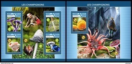 CHAD 2017 - Mushrooms - YT 2015-8 + BF211; CV=38 € - Champignons