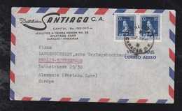 Venezuela 1952 Airmail Cover To BERLIN Germany 2x 30c Isabella Of Spain - Venezuela