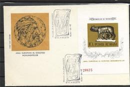 1975 FDC Romania Block 122 - Hojas Bloque