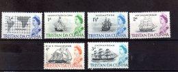 1965/ 1967 - Tristan Da Cunha - Ships And Queen Elisabeth II - 6v Mi  71-76 MNH**   (xdr) - Tristan Da Cunha
