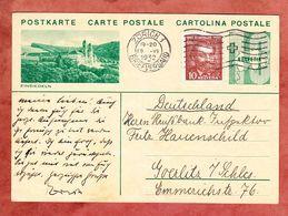 P 152 Ziffer Abb: Einsiedeln + ZF, MS Zuerich, Nach Goerlitz 1932 (55449) - Entiers Postaux