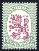 Finland Sc# 135 MNH 1926 1½m Blue Green & Red Violet Arms Of The Republic Helsinki Issue - Finland