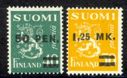 Finland Sc# 195-196 MH 1931 Surcharged - Finland