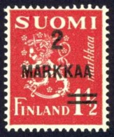 Finland Sc# 212 MH 1937 Surcharged - Unused Stamps