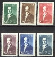 Finland Sc# 233-238 MNH 1941 Pres. Risto Ryti - Finland