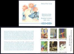 Finland Sc# 825a MNH Complete Booklet 1990 Rudolf Koivu Illustrations - Finlande