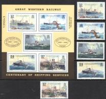 Guernsey Sc# 411-415a MNH 1989 Great Western Railway Steamer Service - Guernesey