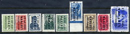 LITHUANIA 1941 Overprint Set Of Nine, MNH / **.  Michel 1-9 - Occupation 1938-45