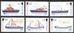 Guernsey Sc# 684-689 MNH 1999 Rescue Boats - Guernesey