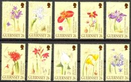 Guernsey Sc# 719a-719j MNH 2000 Flowers - Guernesey