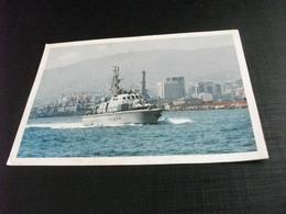 NAVE SHIP  GUARDIA DI FINANZA  GUARDACOSTE G. 103 TREZZA PORTO GENOVA - Guerra