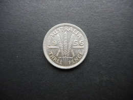 Australia 3 Pence 1956 Elizabeth II - Moneda Pre-decimale (1910-1965)