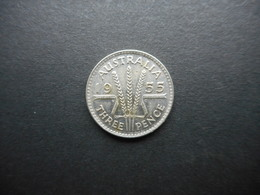 Australia 3 Pence 1955 Elizabeth II - Moneda Pre-decimale (1910-1965)