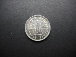 Australia 3 Pence 1952 George VI - Moneda Pre-decimale (1910-1965)