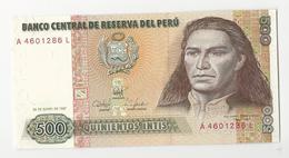 Peru 500 Intis 1987 UNC - Perú