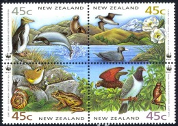 New Zealand Sc# 1053a SG# W35a MNH Booklet Pane 1991 45c Thinking Of You - Unused Stamps