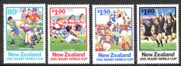 New Zealand Sc# 1054-1057 MNH 1991 Rugby World Cup - Unused Stamps