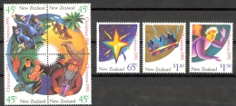 New Zealand Sc# 1061a-1064 SG# 1631/4 MNH 1991 Christmas - Unused Stamps