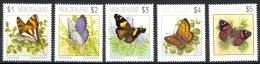 New Zealand Sc# 1075-1079 MNH 1991 Butterflies - New Zealand