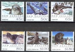 New Zealand Sc# 1094-1099 MNH 1992 Antarctic Seals - Unused Stamps