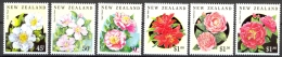 New Zealand Sc# 1110-1115 SG# 1681/6 MNH 1992 Camellias - Unused Stamps